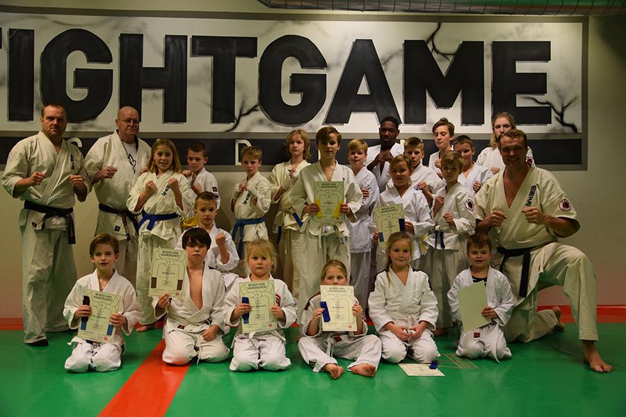 Jeugd examens bij de Fight Game Academy