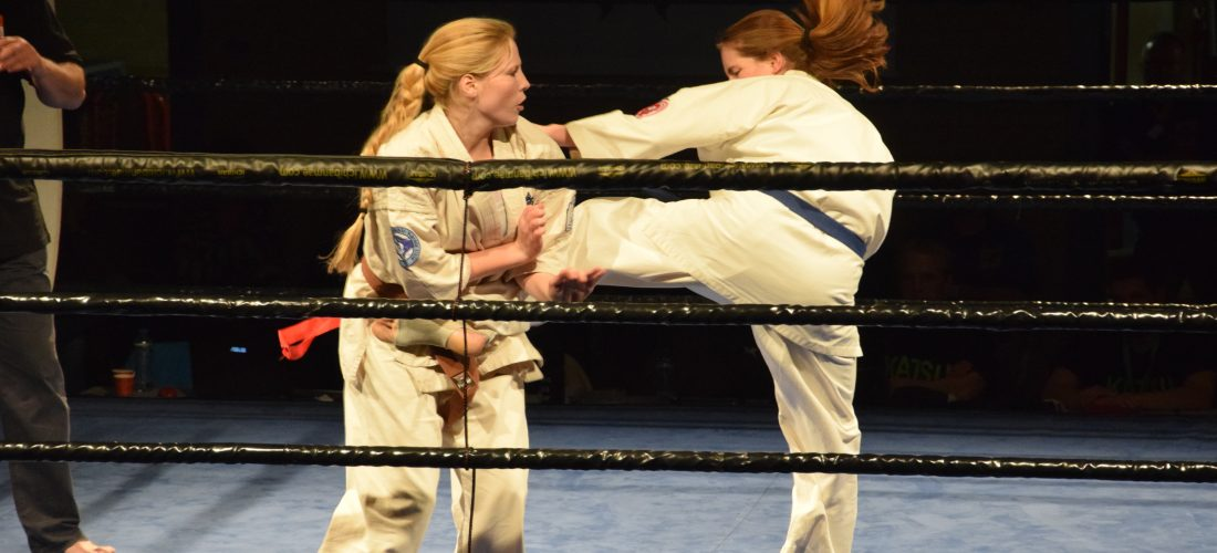 Karateka's Fight Game Academy in actie